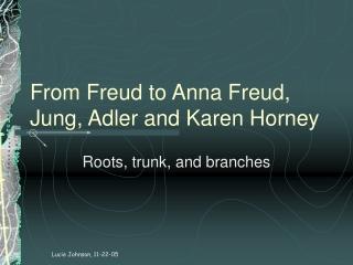 From Freud to Anna Freud, Jung, Adler and Karen Horney