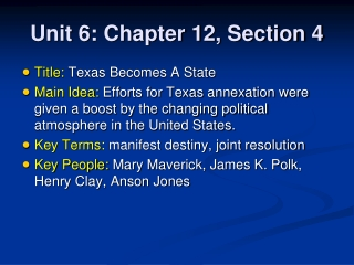 Unit 6: Chapter 12, Section 4