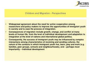 Children and Migration - Perspectives