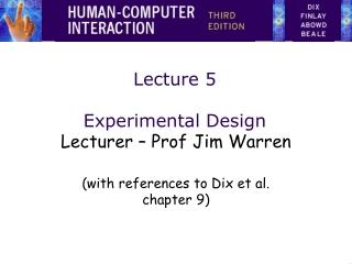 Lecture 5 Experimental Design