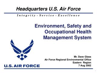 Mr. Dave Glass Air Force Regional Environmental Office Eastern  Region 7 Aug 2002