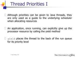 Thread Priorities I