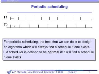 Periodic scheduling