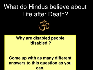 Why are disabled people  ' disabled ' ?