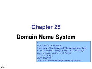 Chapter 25 Domain Name System