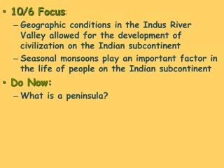 10 /6  Focus :