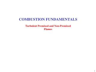 COMBUSTION FUNDAMENTALS