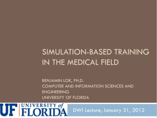 DWI Lecture, January 31, 2012