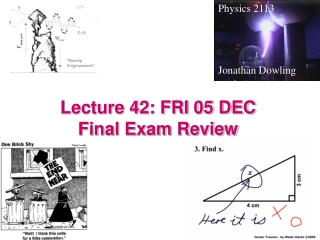 Lecture 42: FRI 05 DEC Final Exam Review