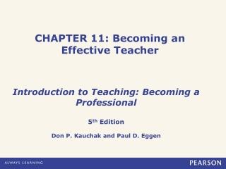 CHAPTER 11: Becoming an Effective Teacher