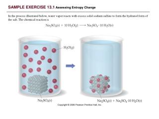 SAMPLE EXERCISE 13.1  Assessing Entropy Change