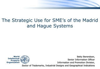 The Strategic Use for SME's of the Madrid and Hague Systems