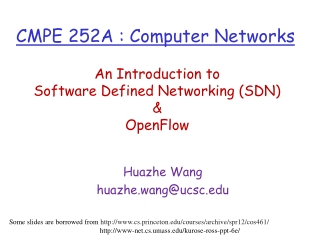 CMPE  252A  : Computer Networks