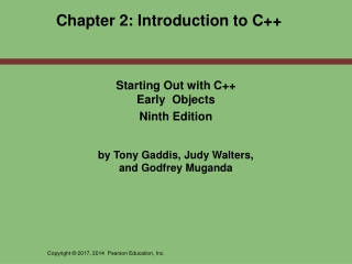 Chapter 2: Introduction to C++