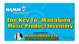 Music Product Inventory