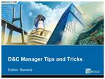 DC Manager Tips and Tricks