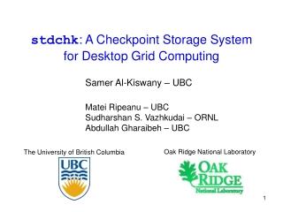 stdchk : A Checkpoint Storage System for Desktop Grid Computing