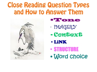 Close Reading Question Types and How to Answer Them