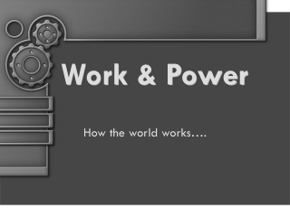Work & Power