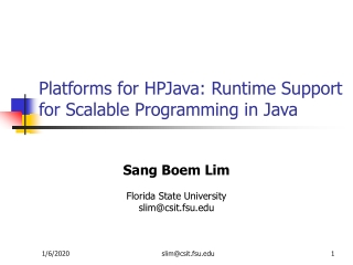 Platforms for HPJava: Runtime Support for Scalable Programming in Java