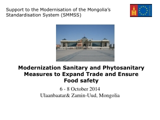 Modernization Sanitary and Phytosanitary Measures to Expand Trade and Ensure Food safety