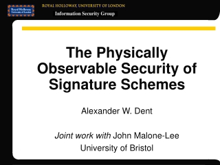 The Physically Observable Security of Signature Schemes