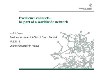 Ex c ellence connects – be part of a worldwide network
