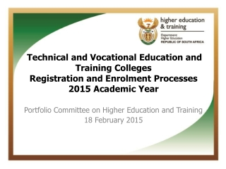 Technical and Vocational Education and Training Colleges