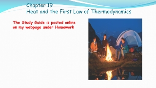 Chapter 19 Heat and the First Law of Thermodynamics