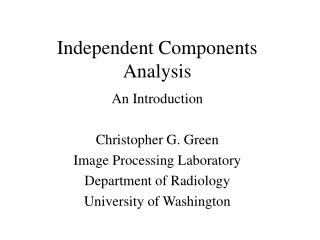 Independent Components Analysis