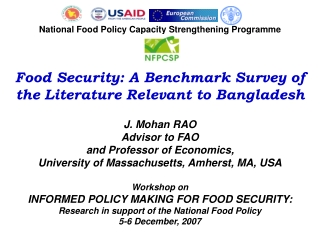 National Food Policy Capacity Strengthening Programme