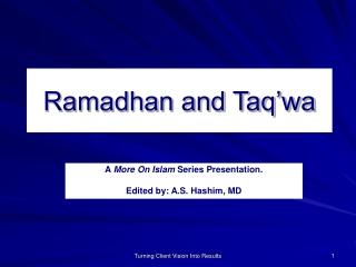 Ramadhan and Taq'wa