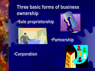 Three basic forms of business ownership