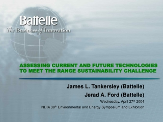 ASSESSING CURRENT AND FUTURE TECHNOLOGIES TO MEET THE RANGE SUSTAINABILITY CHALLENGE