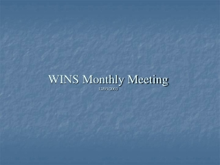 WINS Monthly Meeting 12/05/2003