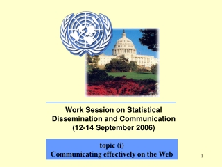 Work Session on Statistical Dissemination and Communication (12-14 September 2006)