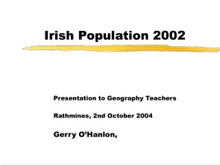 Irish Population 2002