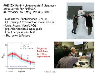 PHENIX Run8 Achievements & Summary Mike Leitch for PHENIX RHIC/AGS User Mtg., 29 May 2008