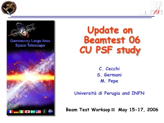 Update on  Beamtest 06  CU PSF study