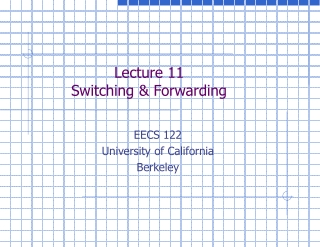 Lecture 11 Switching & Forwarding