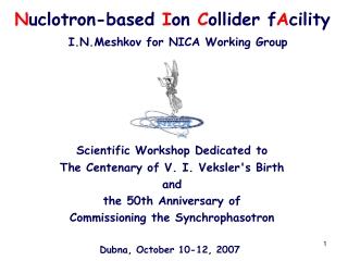 N uclotron-based I on C ollider f A cility