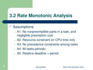 3.2 Rate Monotonic Analysis