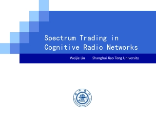 Spectrum Trading in Cognitive Radio Networks