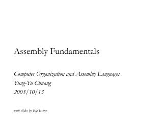 Assembly Fundamentals