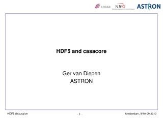 HDF5 and casacore