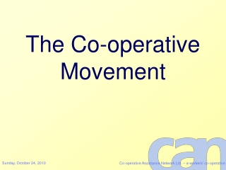 The Co-operative Movement