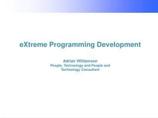 eXtreme Programming Development