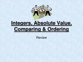Integers, Absolute Value, Comparing & Ordering