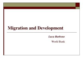 Migration and Development