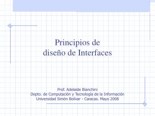 Principios de diseño de Interfaces